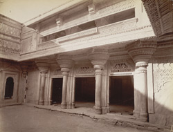 South face of outer 'Chowk', Man Mandir, Gwalior Fort.